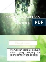 Ringkasan & Abstrak Microsoft Office PowerPoint Presentation