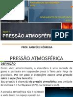 Climatologia - Pressão Atmosférica