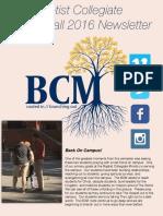 BCM Fall 2016 Newsletter