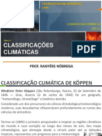 Climatologia - Classificações climáticas