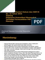 Peraturan Menteri Hukum dan HAM tentang Pelayanan Komunikasi Masyarakat