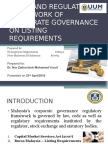 Legal and Regulatory Framework of Corporate Governance- Listing Requirements