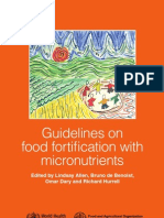 Guidelines on Food Fortification With Micro Nutrients