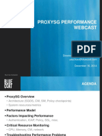 ProxySG Performance Webcast