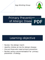 Presentasi Prevention of Allergy