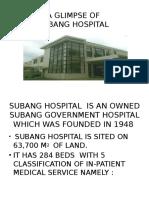 A Glimpse of Subang Hosptl
