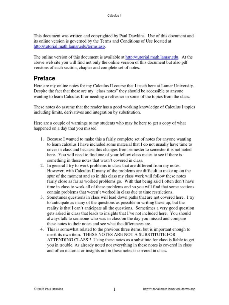 CalcII_Complete pdf | Trigonometric Functions | Integral