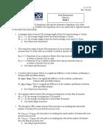 Final Exam Sheet 1
