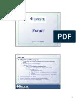 Becker - Fraud Risks Presentation Slides
