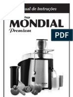 Mondial - Centrifuga - Super Centrifuga Premium - Mod. 1260-01 e 1260-02 - CF-01