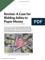 A Case for Bidding Adieu to Paper Money