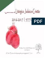Calendario Liturgico Judaico-cristao 2016-2017 5777-5778
