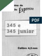 CBC - Carabina de Pressao - Expresso 345 e 345 Junior