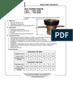 Boletim Técnico Esguicho Vazão Constante Ref. Mr. 504.e e f
