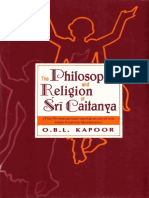 The Philosophy and Religion of Shri Caitanya