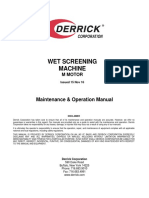DERRICK1-Wet Screening Machine Manual - M Motor