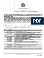 Edital IFMG