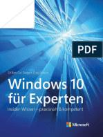 Windows 10 Für Experten (Microsoft Press) Insider-Wissen - Praxisnah & Kompetent (German Edition) - Ed Bott