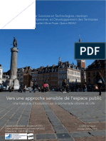 Une methode d'evaluation sur la promenade urbaine de Lille