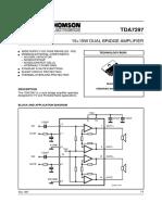 tda7297 15w 15w dual bridge amplifier data sheet amplifier rh scribd com