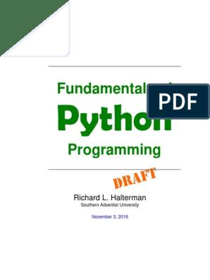 Python Book | Computer Programming | Computer Program
