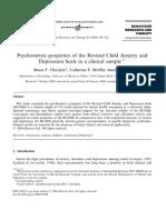 RCADS Clinical (Chorpita, Moffitt, Gray)