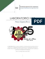 Laboratorio Nº 3 -  Peso especifico de Agregado Fino y Grueso