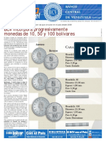 BCV incorpora progresivamente monedas de 10, 50 y 100 bolívares