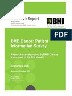bme cancer voice patient survey report
