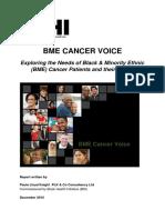 bhi - bme cancer voice bme cancer patient experience - nhs england 2015 report