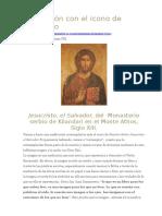Meditación Con El Icono de Jesucristo