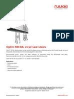 Optim 500 Ml Structural Steels