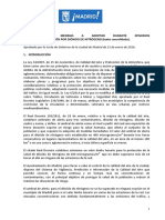 Protocolo de medidas a adoptar durante episodios de alta contaminación por dióxido de nitrógeno