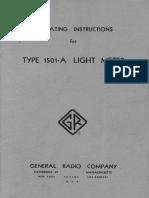 1501-A Light Meter
