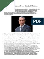 Matteo Del Fante Terna Sottoscrive Accordo Con Guardia DiFinanza