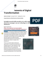 The Nine Elements of Digital Transformation