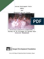 Sangat Sindh Report on Survey Closed Schools
