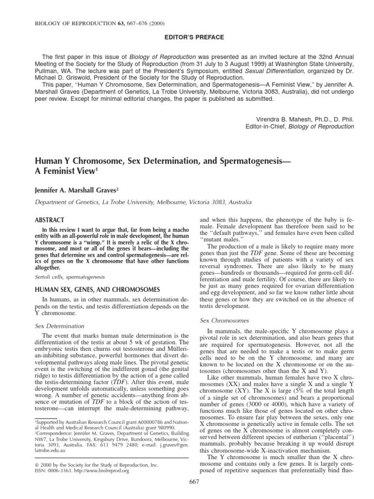 sex chromosome and sex determination pdf file in Swindon