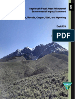 Draft EIS on Sage Grouse Management proposals