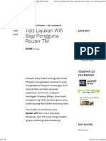 Tips Lajukan Wifi Router TM - Kurangkan Lag & Buffering