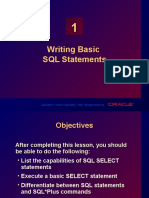 Chapter 01 - Writing Basic SQL Statements
