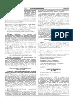 Decreto Legislativo que crea el Fondo de Inversión Agua Segura