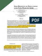 Evaluacion Sismorresistente de Edfi Antigua de Tapia Pisada