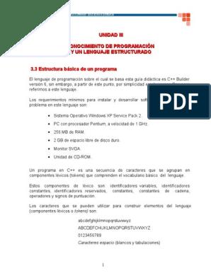 3 3 Estructura Básica De Un Programa C Programa De