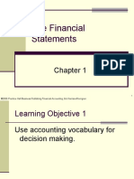 Plain Background Power Point Slides Chapter 1 the Financial Statements 3655