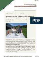 Der Düsentrieb der Schweizer Plastikbranche