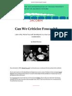 Foucault & Neoliberalism