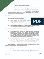 Release and Settlement Agreement - Blackwell Black