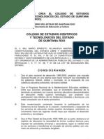 DECRETO CREACION CECYTEQROO