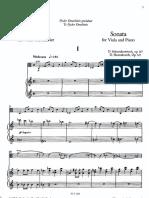 Shostakovich - viola sonata